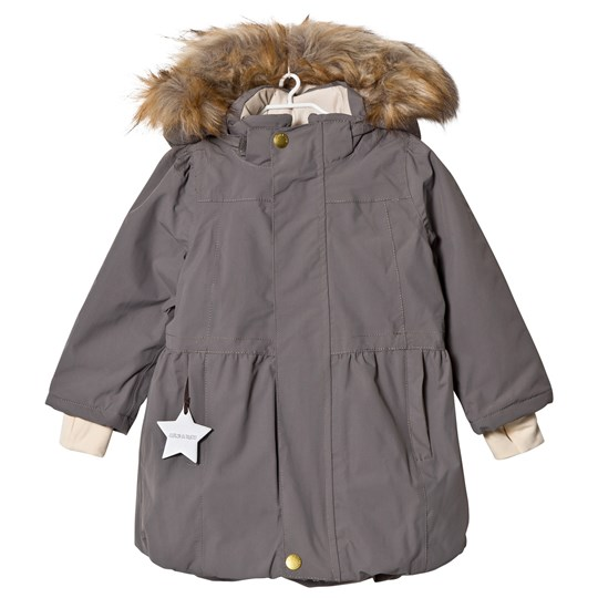 Mini A Ture Viola Faux Fur Jacket Steel Grey Steel Grey