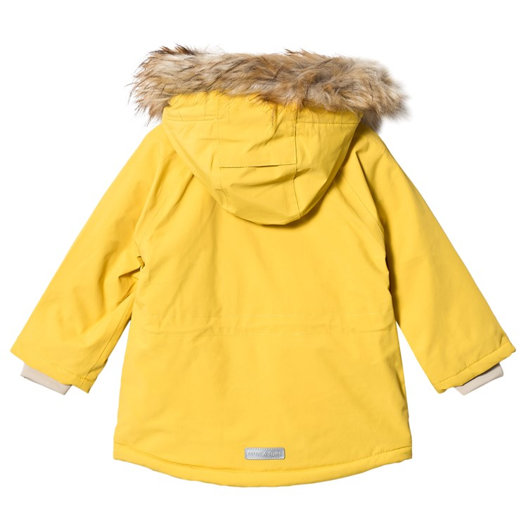 White North Face Jacket Fluffy jacket, faded yellow stain on