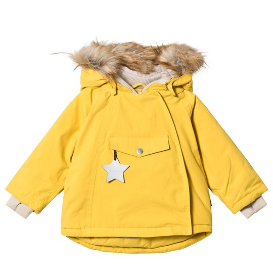 Mini A Ture Wang Faux Fur Jacket Bamboo Yellow Bamboo Yellow