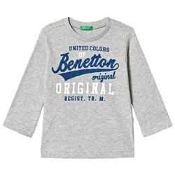 United Colors of Benetton T-Shirt L/S Grey