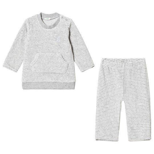 United Colors of Benetton Grey Chenille Sweater and Pants Set Sort