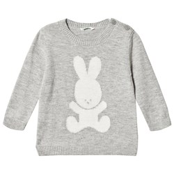 United Colors of Benetton Grey Bunny Sweater