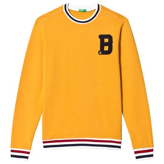 United Colors of Benetton Yellow Sweatshirt with Embroidery Yellow