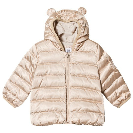 GAP Ice Gold Metallic Padded Jacket Metallic Frost