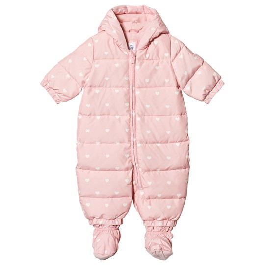 Gap Heart Print Overall Rosa ICY PINK