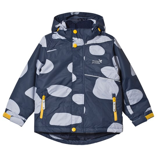 Muddy Puddles Blizzard Ski Jacket Navy Log Marinblå