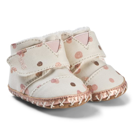 d5da30f4408 Toms - Pale Blush Party Dots Tiny TOMS Cuna Crib Shoes - Babyshop.com