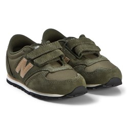 New Balance Green and Brown Velcro Sneakers