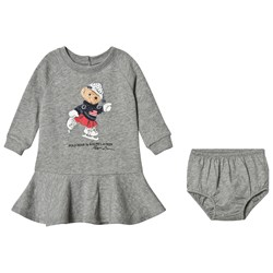 Ralph Lauren Red Skating Bear Print Sweat Dress