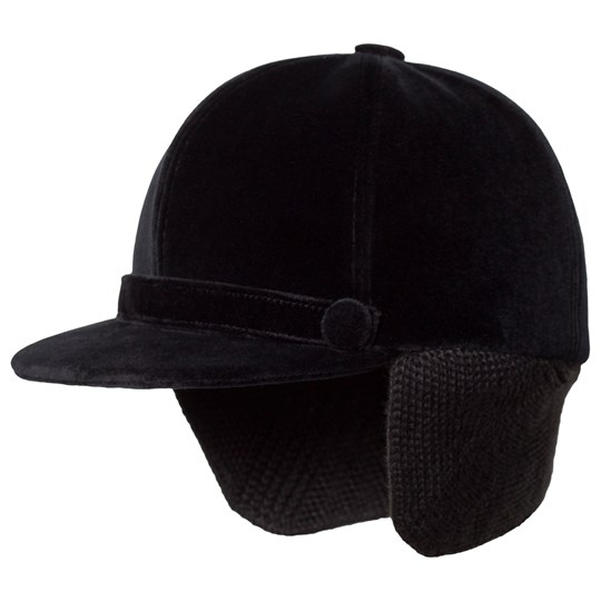 Bonpoint Black Velvet Riding Cap 099