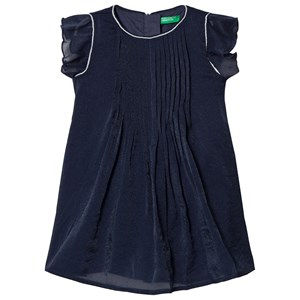 Image of United Colors of Benetton Navy Pleated Dress 10/11Y (XL 150cm) (1215999)