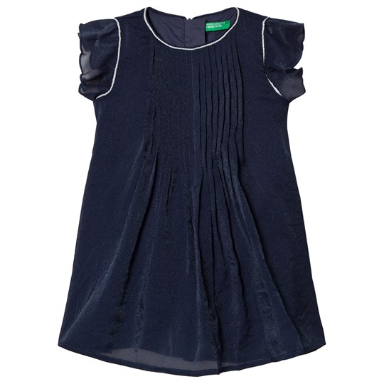 United Colors of Benetton Navy Pleated Dress Navy