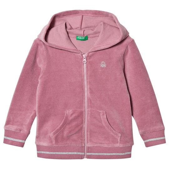 United Colors of Benetton Pink Chenille Hoodie Pink