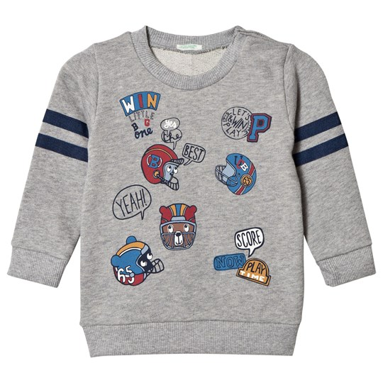 United Colors of Benetton Grey Football Sweatshirt Off white