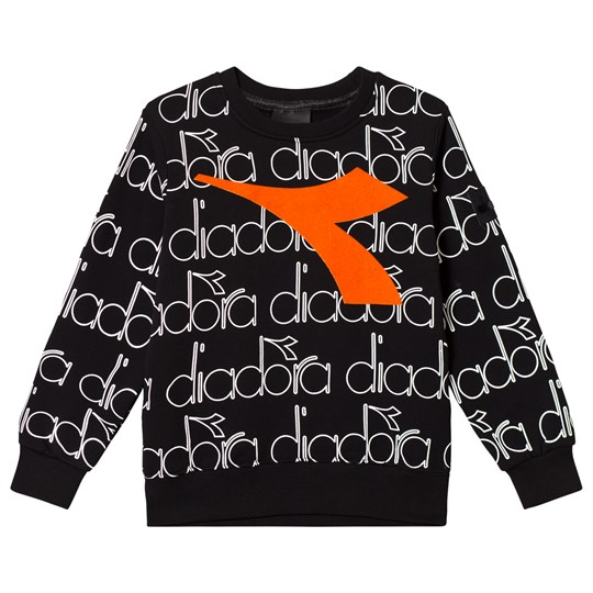 Diadora Black, White & Orange Branded Sweatshirt 110