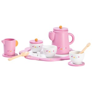 Image of Wood Little Afternoon Tea Set Pink One Size (1137195)