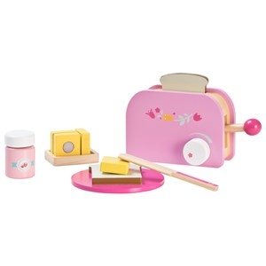 Image of Wood Little Toaster Set Pink (3125306839)