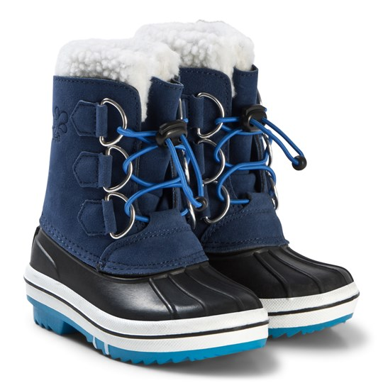 Muddy Puddles Snowdrift Snow Boots Blue Navy