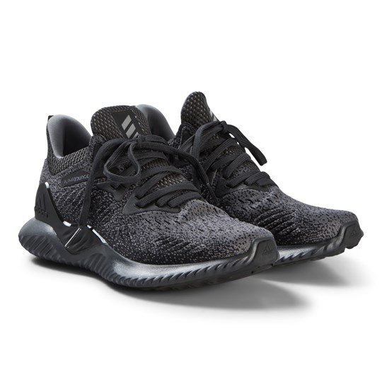 adidas Performance Black Knit Alphabounce Beyond Running Sneakers carbon/GREY THREE F17/core black