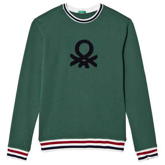 United Colors of Benetton Green Logo Sweatshirt Green