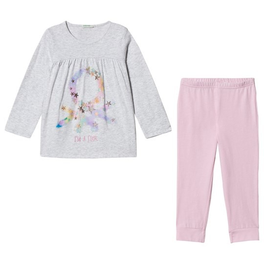 United Colors of Benetton Grey and Pink Unicorn Pajamas GREY&PINK