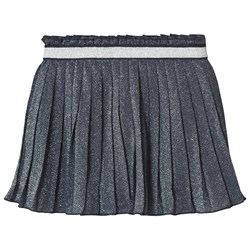 United Colors of Benetton Blue Pleated Lurex Skirt