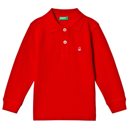 United Colors of Benetton L/S Polo Shirt Red Red
