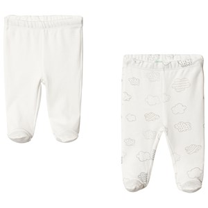 Image of United Colors of Benetton 2-Pack Off White Footed Pants 1Y (82cm) (3125251025)
