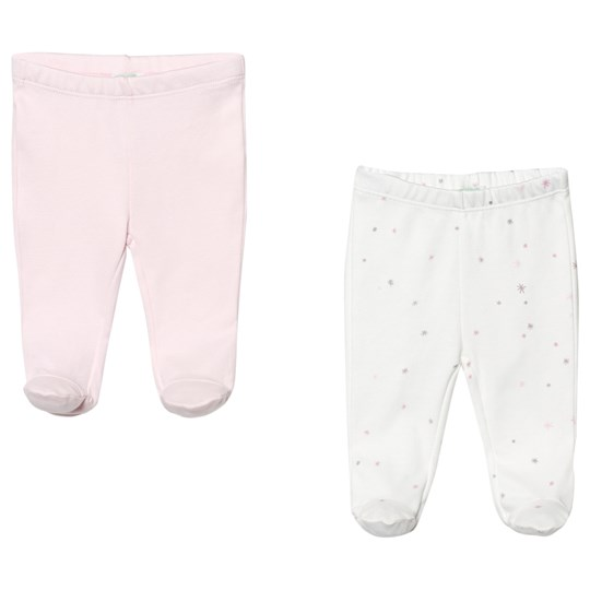 United Colors of Benetton 2-Pack Pink and White Footed Pants Light Pink