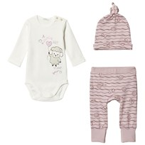 United Colors of Benetton Pink   White Baby Body Set Pink ba61b3c7435e4