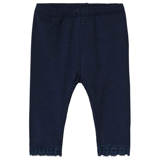 United Colors of Benetton Navy Leggings with Lace Marinblå