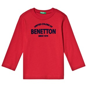 Image of United Colors of Benetton Red Branded Tee 8/9Y (L 140cm) (3125280827)