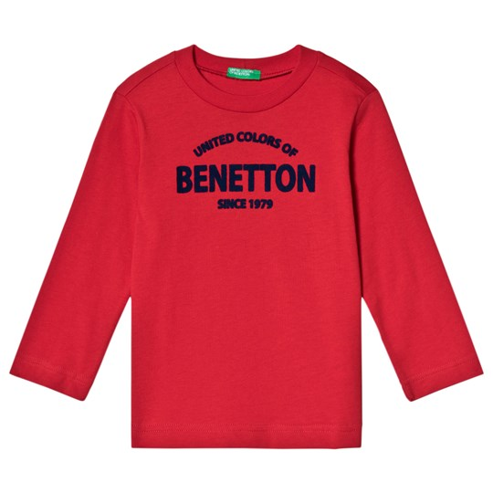 United Colors of Benetton Red Branded Tee Red