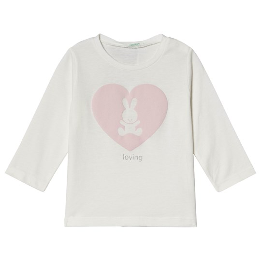 United Colors of Benetton White Bunny and Heart Tee White