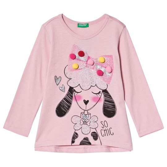 United Colors of Benetton Dog T-Shirt Rosa Off white