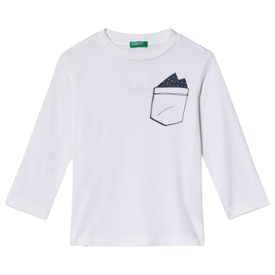 United Colors of Benetton T-Shirt L/S Off White Off white