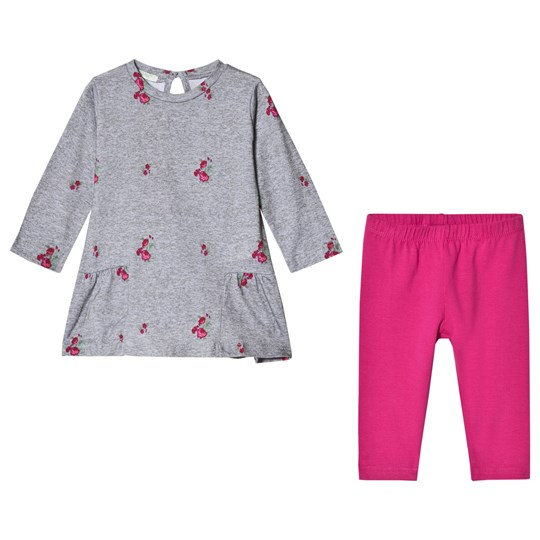 United Colors of Benetton Set Sweater+Trousers Grey&Pink GREY&PINK