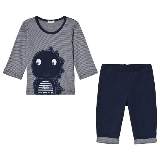 United Colors of Benetton Navy Tee and Pants Dinosaur Set Navy