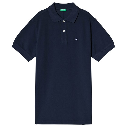 United Colors of Benetton Blåt Polo Skjorte Navy