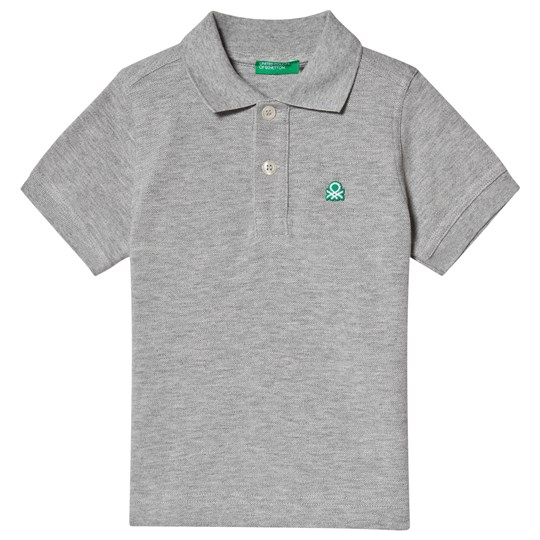 United Colors of Benetton Grey Polo Shirt Black