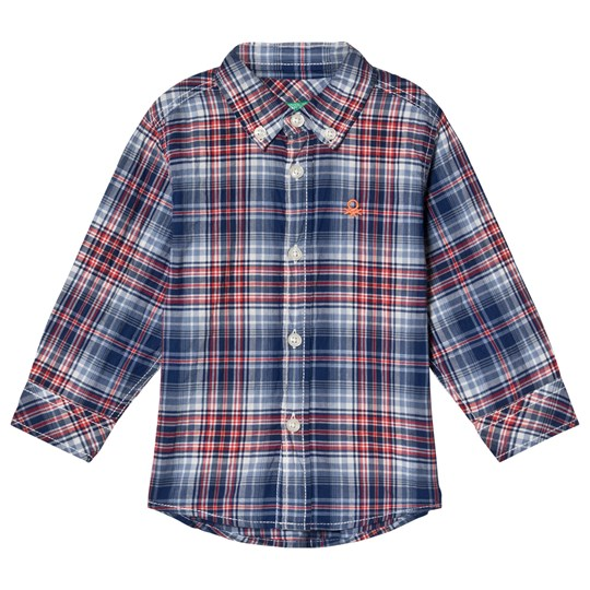 United Colors of Benetton Check Shirt Red/Navy RED&NAVY