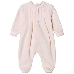 Dr Kid Pink Velour Footed Baby Body
