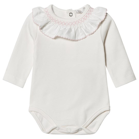 Dr Kid White Embroidered Collar Baby Body 252