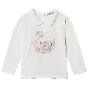 Image of Dr Kid White Embroidered Swan Top 3 mdr (1155124)