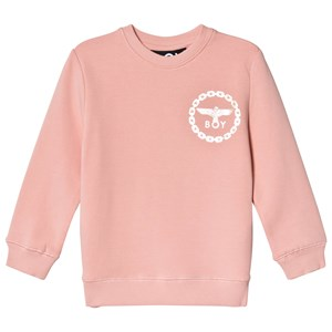 Image of Boy London Pink and Gold Eagle Print Sweatshirt 7-8 years (3125311643)