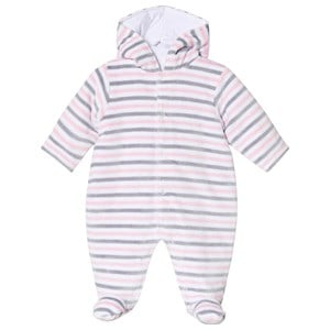 Image of Kissy Kissy Pink & Grey Harmony Stripe Coverall 3-6 months (3125236659)