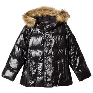 Image of Diadora Black Pearl Faux Fur Hooded Ski Jacket XS (6 years) (3125291153)