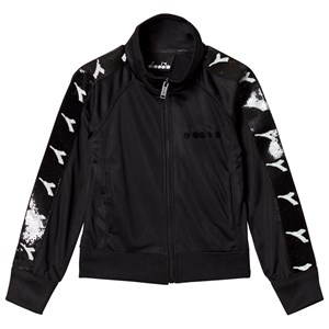 Image of Diadora Black & Monochrome Sequin Branded Track Jacket L (12 years) (3125292673)