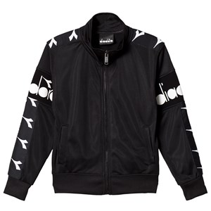 Image of Diadora Black & Monochrome Branded Track Jacket L (12 years) (3125272639)