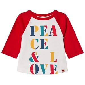Image of Tootsa MacGinty Raglan Peace Tee Bright Red 0-6 mdr (1113034)
